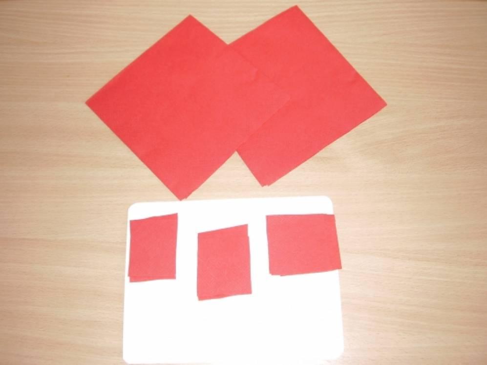 Аппликация из бумажных комочков