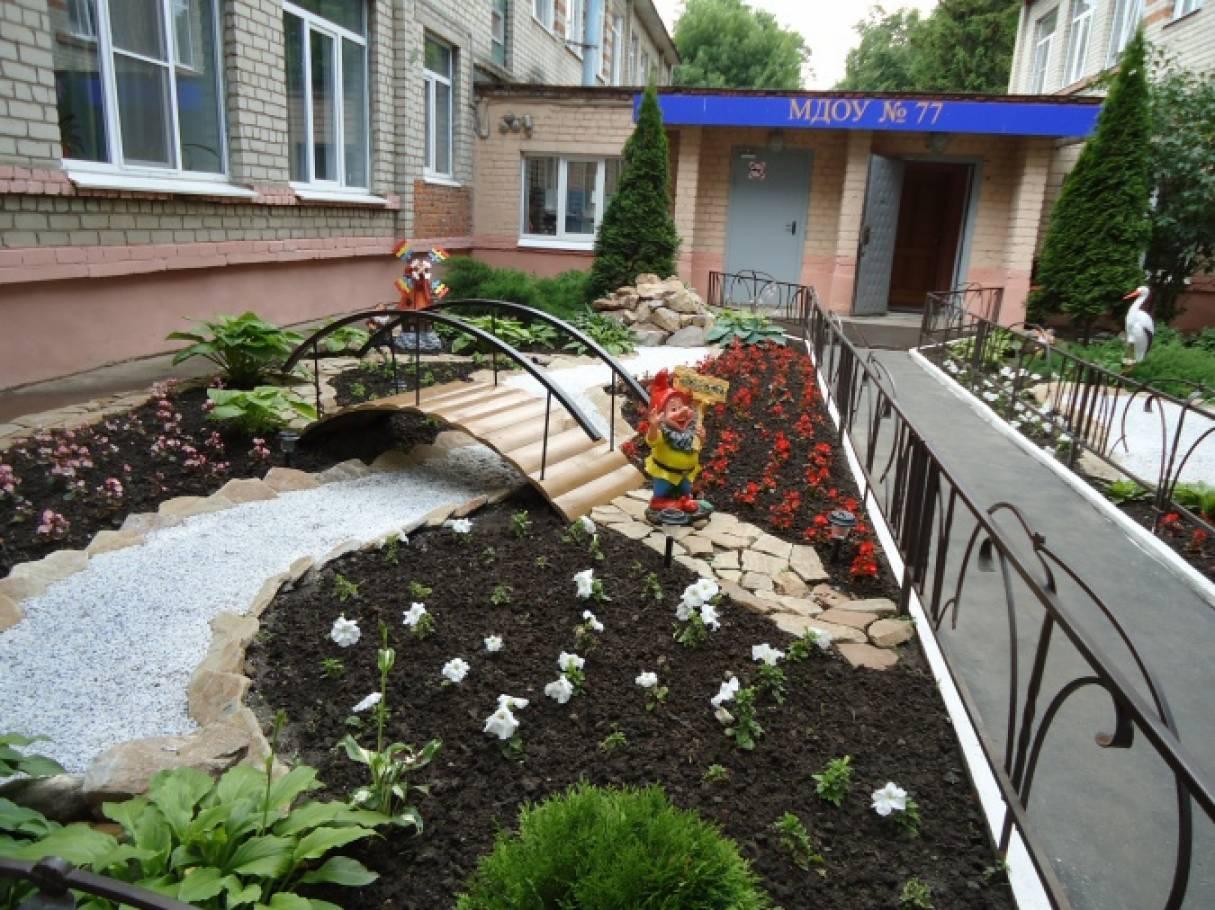 фото оформление территории детского сада