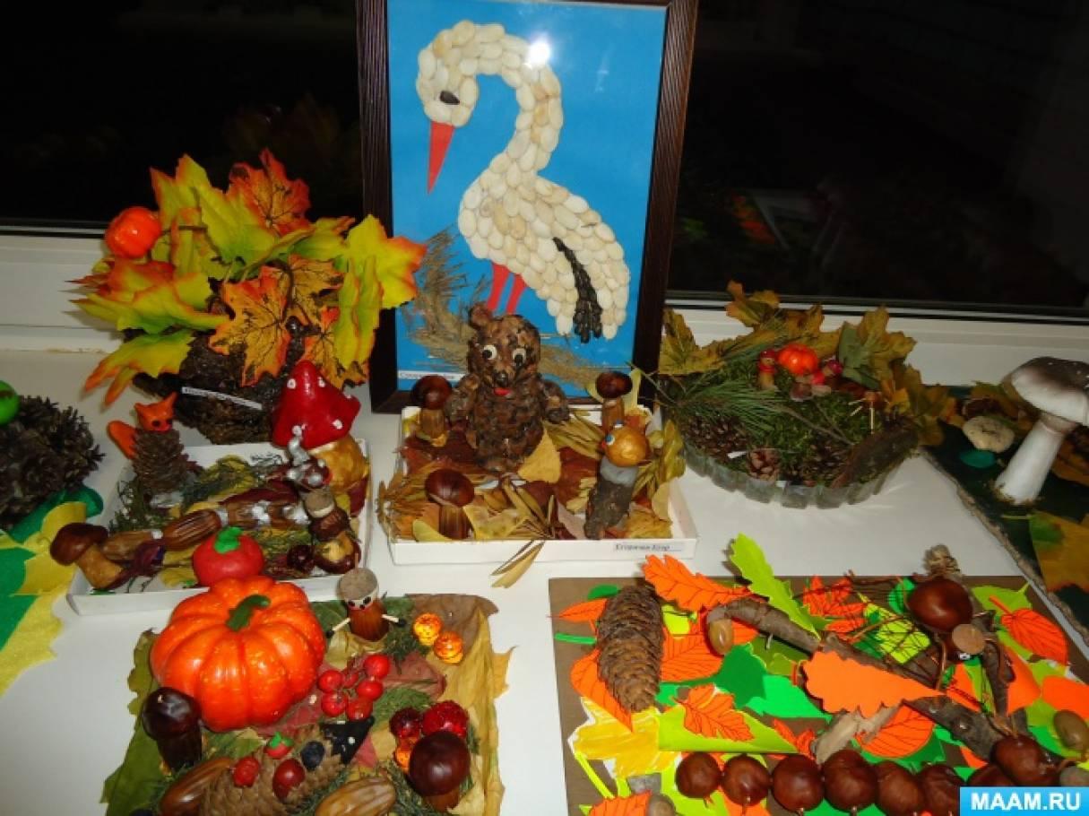 Осенняя выставка поделок в школе 51