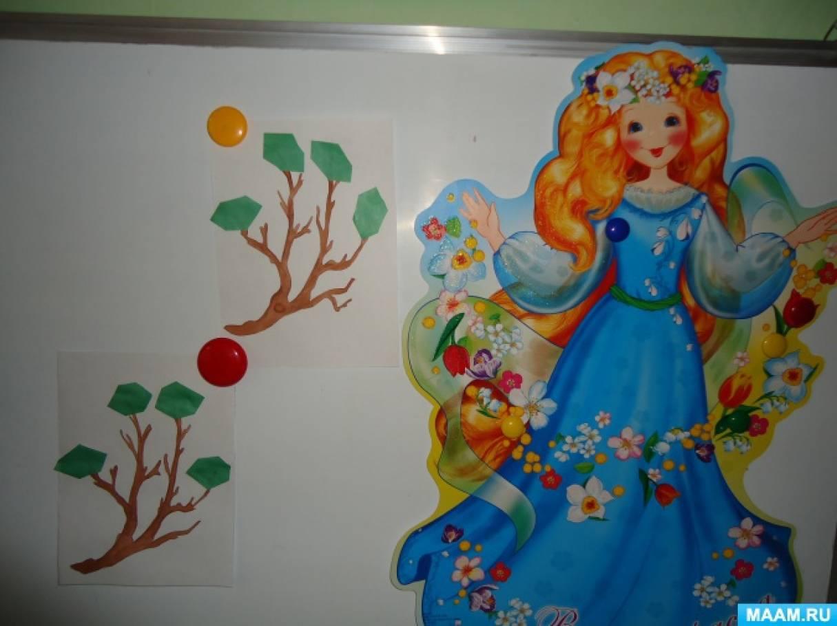 Детский мастер-класс по аппликации «Зеленая листва»