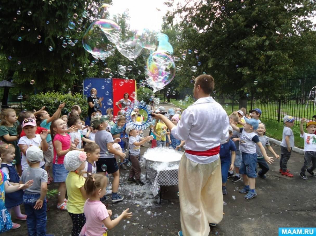 Шоу мыльных пузырей в детском саду (фотоотчет)