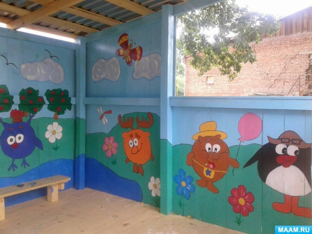 Оформление детского сада своими руками беседку 31