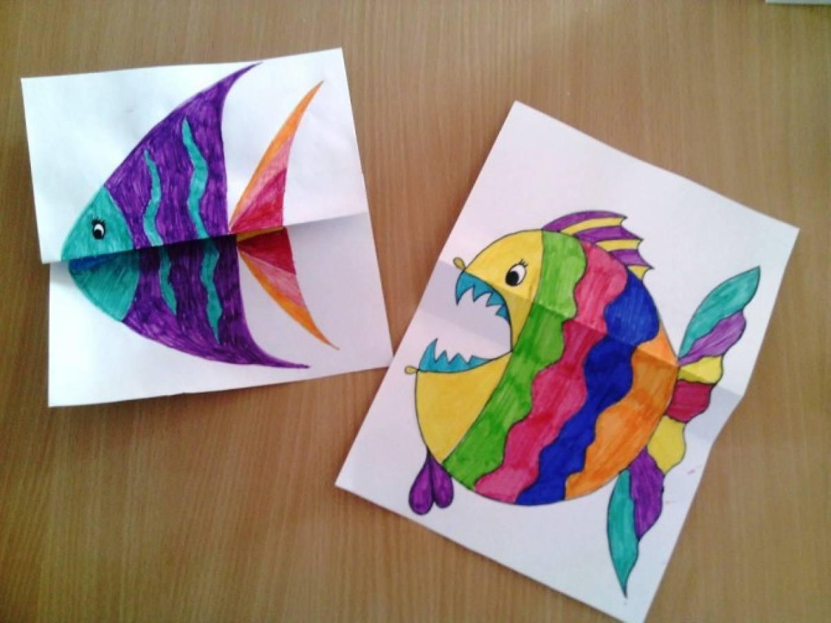 Мастер-класс «Необычные рыбки». Совместная работа родителей и детей