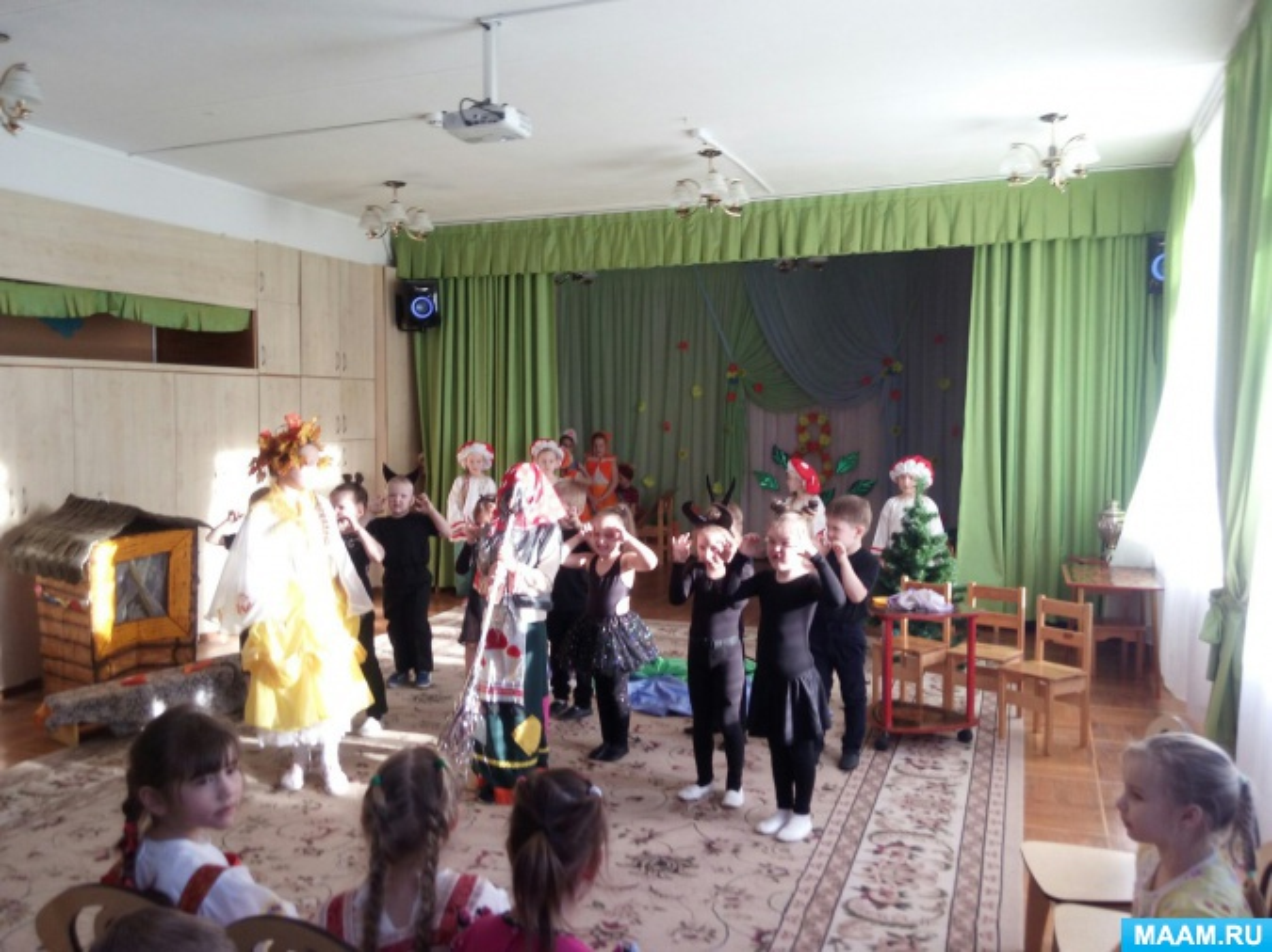 Сценарий новогодней сказки для детей подготовительной группы «Зимняя сказка»