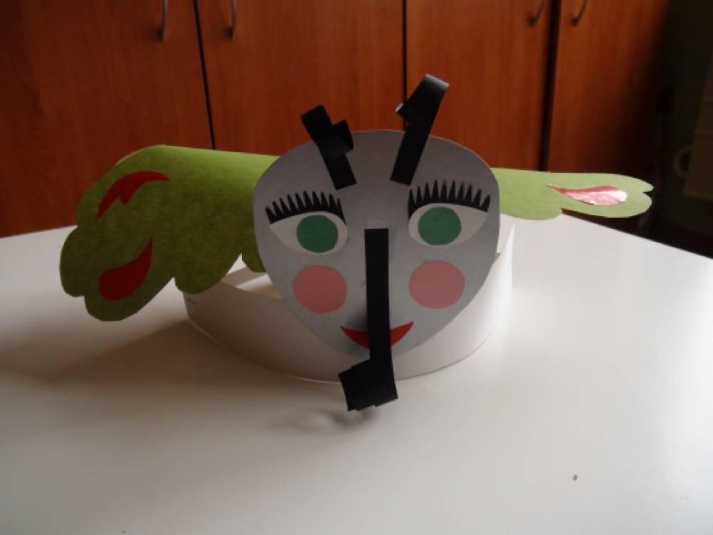 Как сделать маску комара из бумаги своими руками