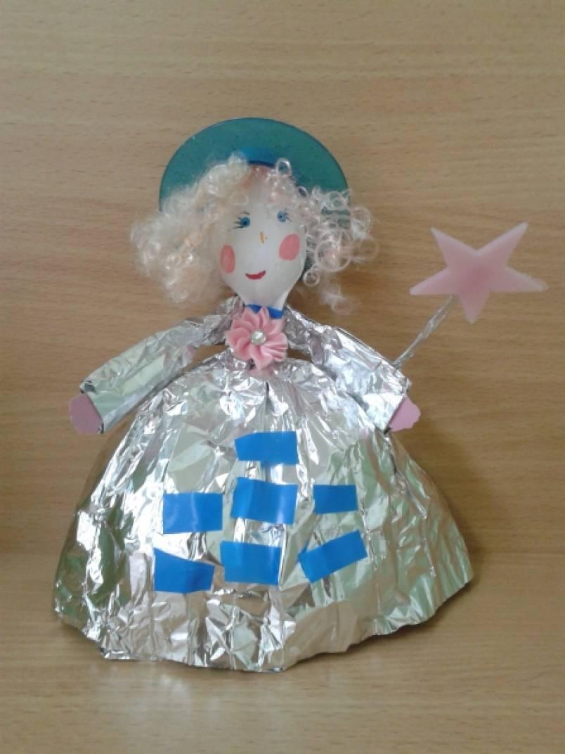 Кукла из бросового материала своими руками 3
