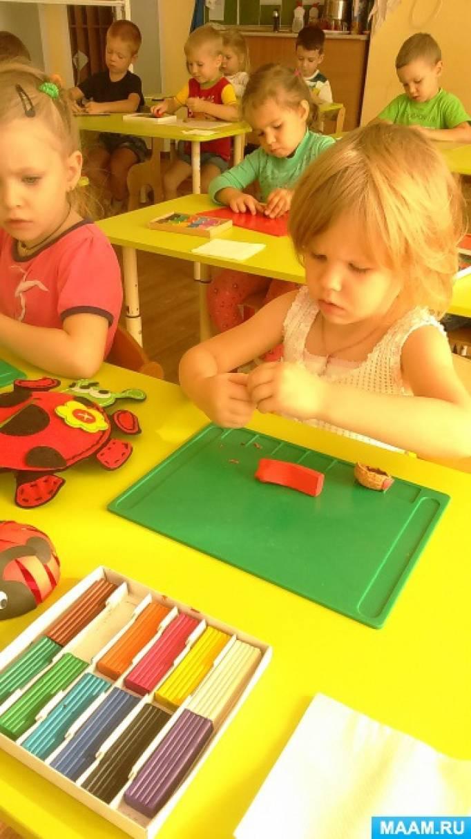 Конспект НОД по рисованию в средней группе детского сада: «Божья Коровка»