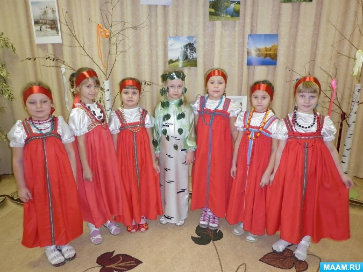 Конспект занимательной досуговой деятельности в подготовительной к школе группе «Береза— символ России»
