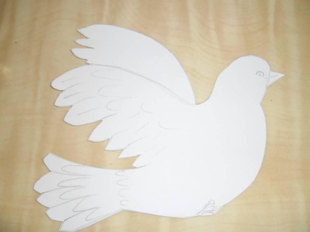 Вырезание голубя мира своими руками 2