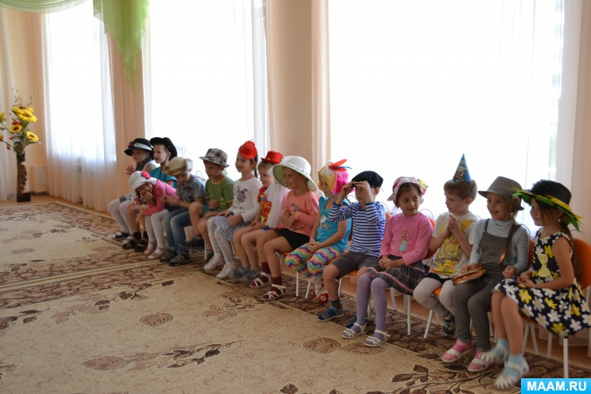 Сценарий развлечения «Парад шляп» для подготовительной к школе группы