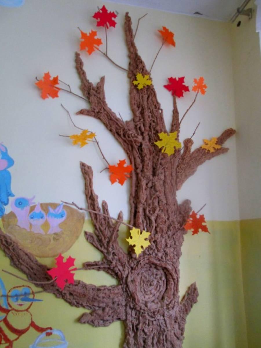 Объёмное дерево своими руками для детского сада