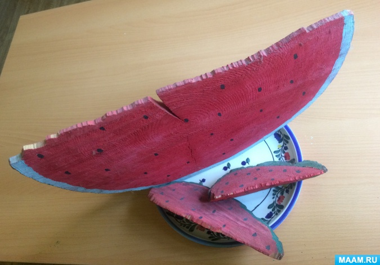 Экологический мастер-класс «Сочный арбуз из спила дерева»