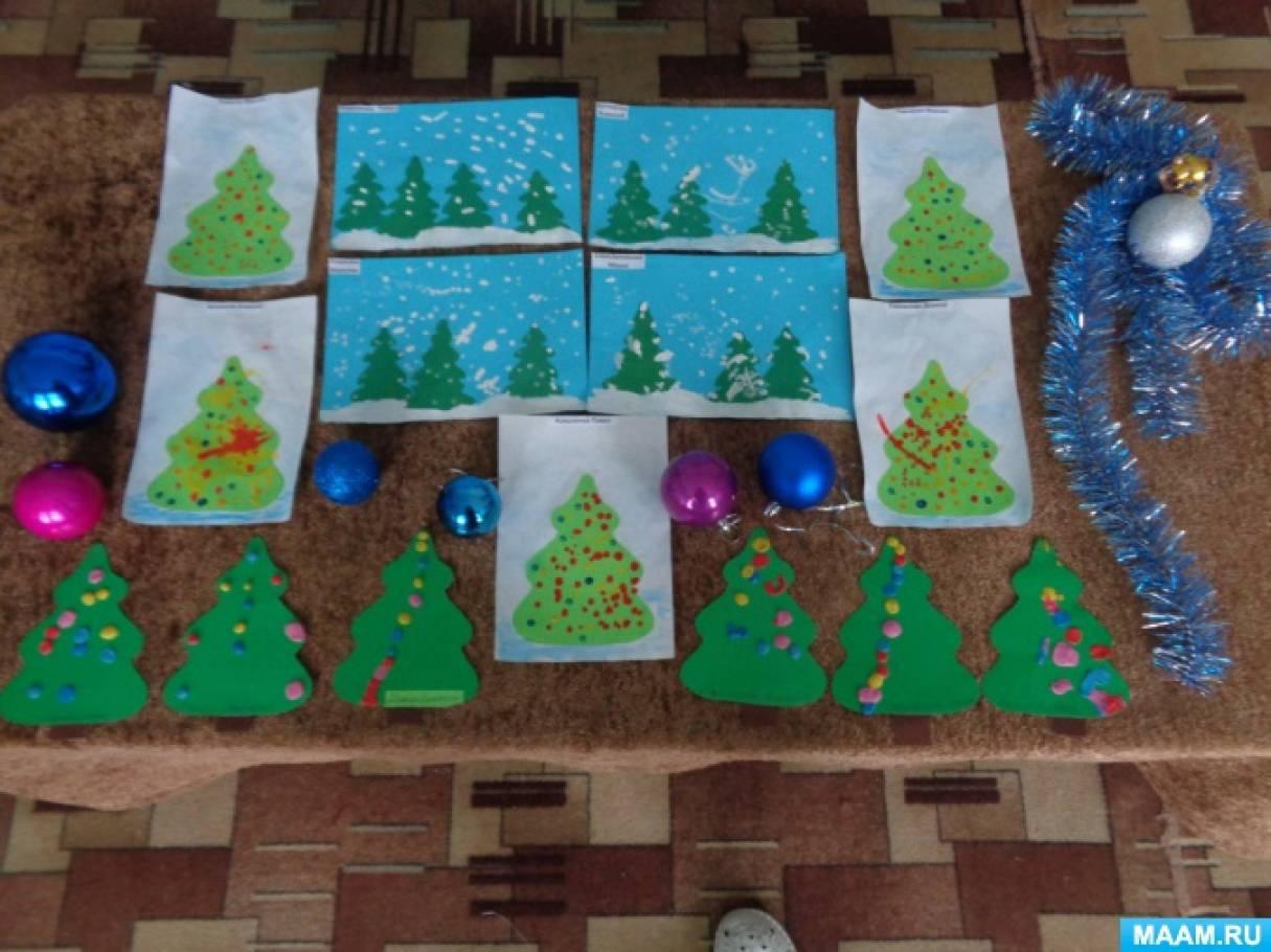 Фотоотчет о зимнем проекте в первой младшей группе «Зимний праздник Новый год»