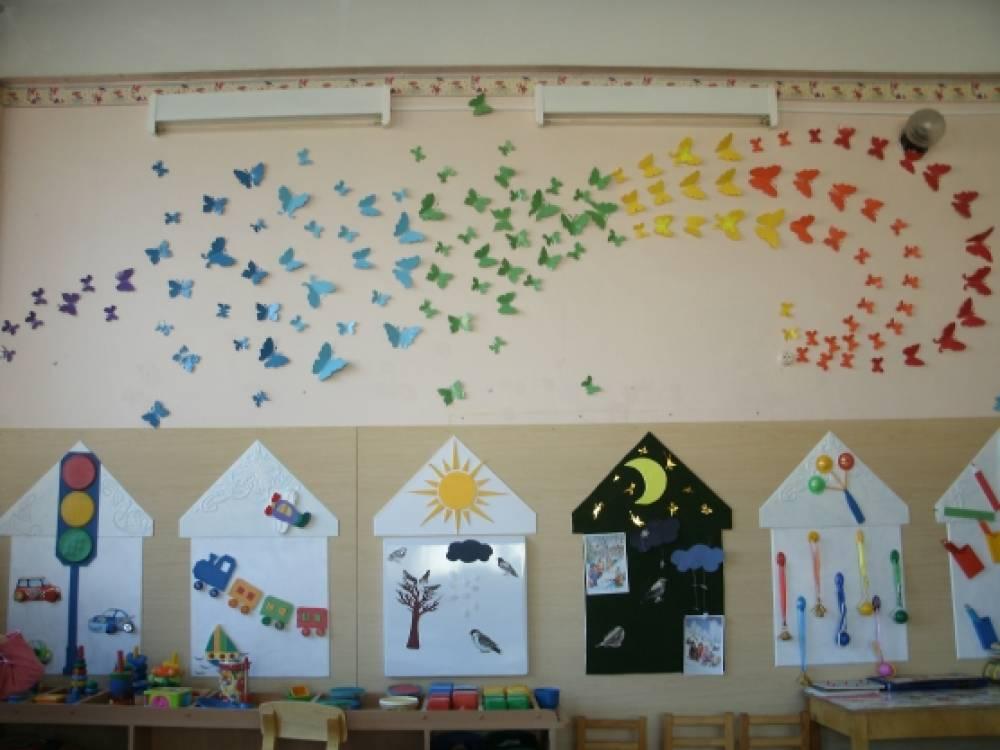 Оформление группы бабочки в детском саду своими руками фото по фгос