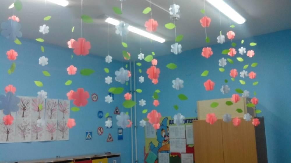 Оформление детского сада своими руками потолок