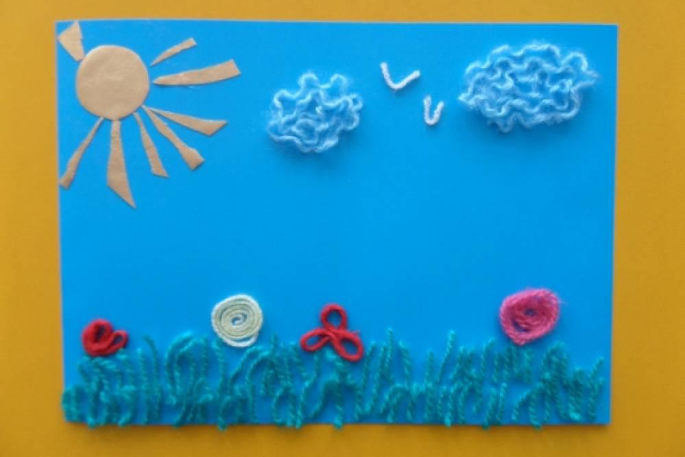 «Весенний солнечный денек». Аппликация