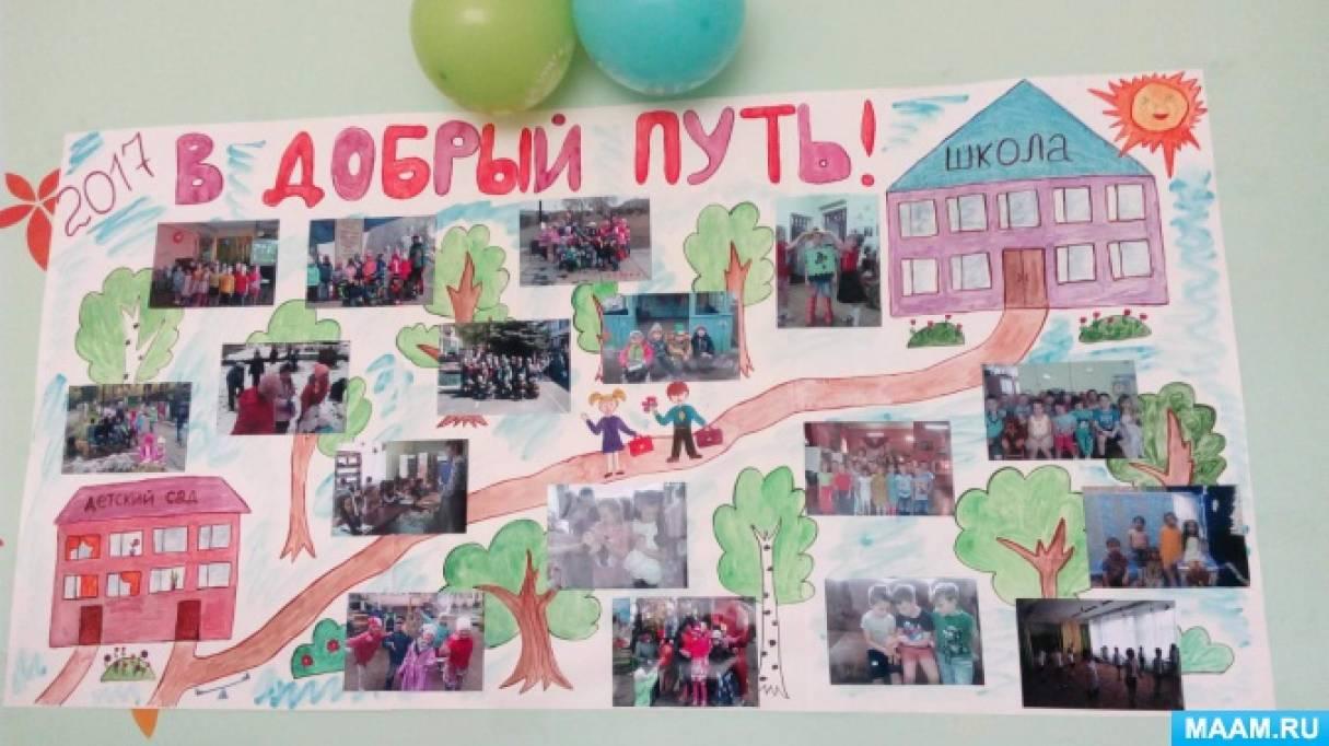 Плакат к выпускному в детском саду 4