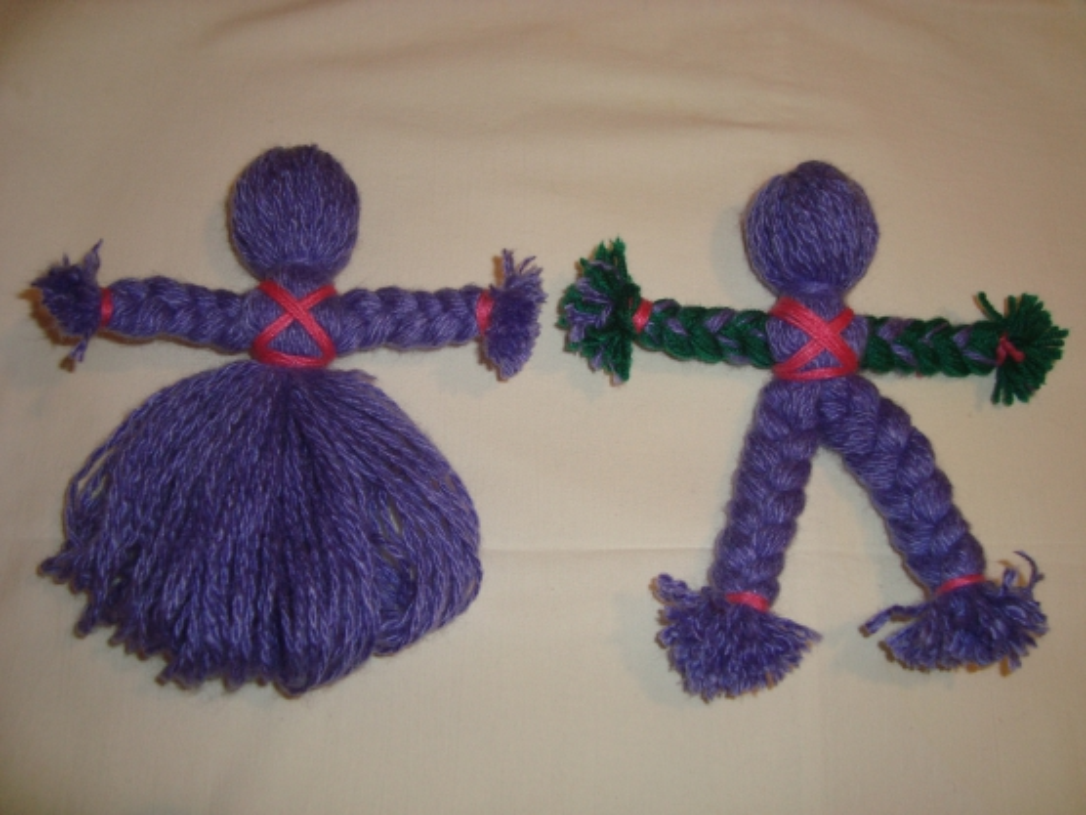 Как сделать куклу из ниток - мастер-класс с пошаговым фото для детей, родителей и педагогов