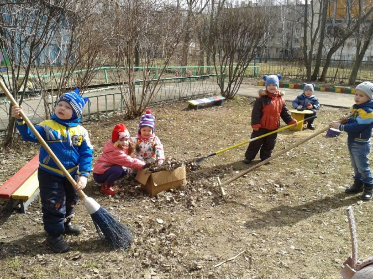 Фото дети на субботники 11