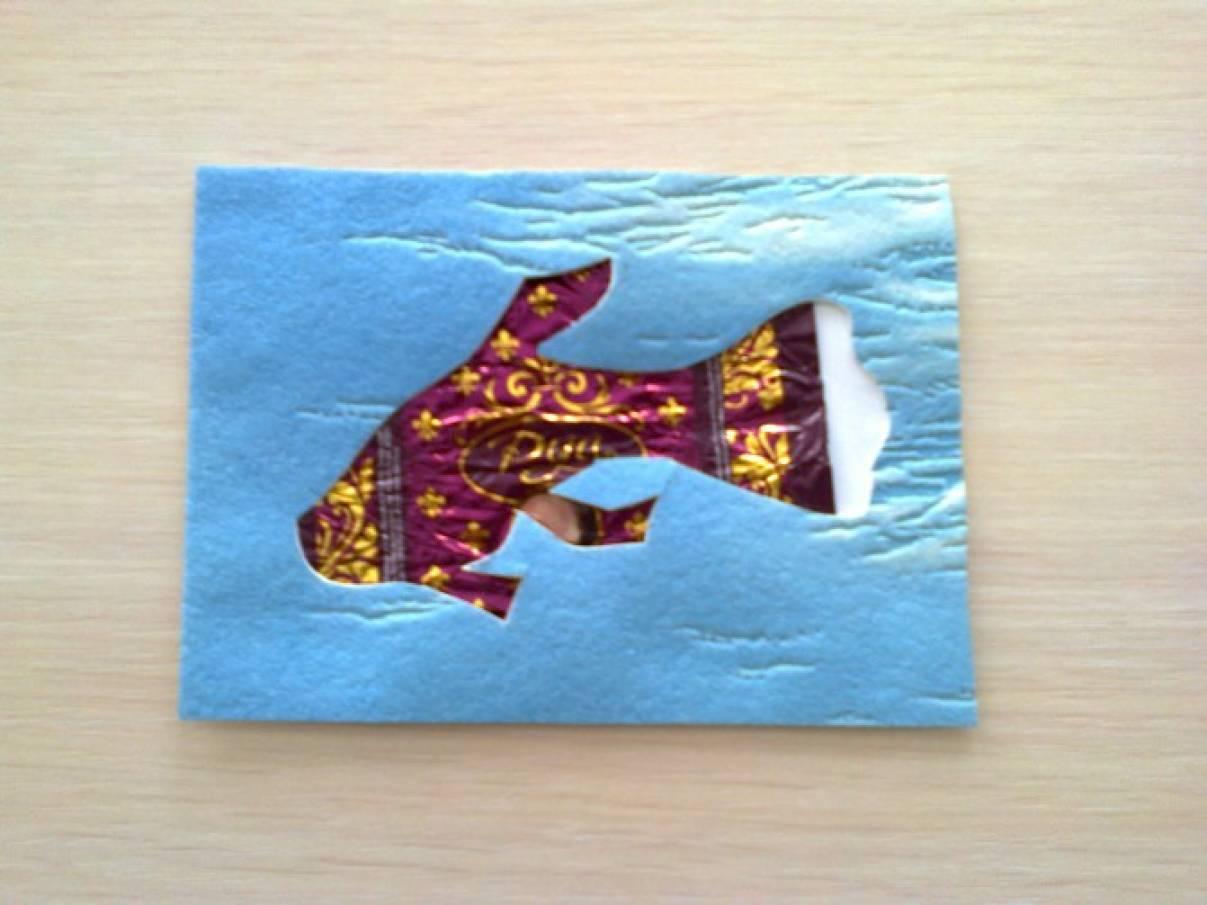 Мастер-класс аппликации из бросового материала «Рыбки из фантиков»
