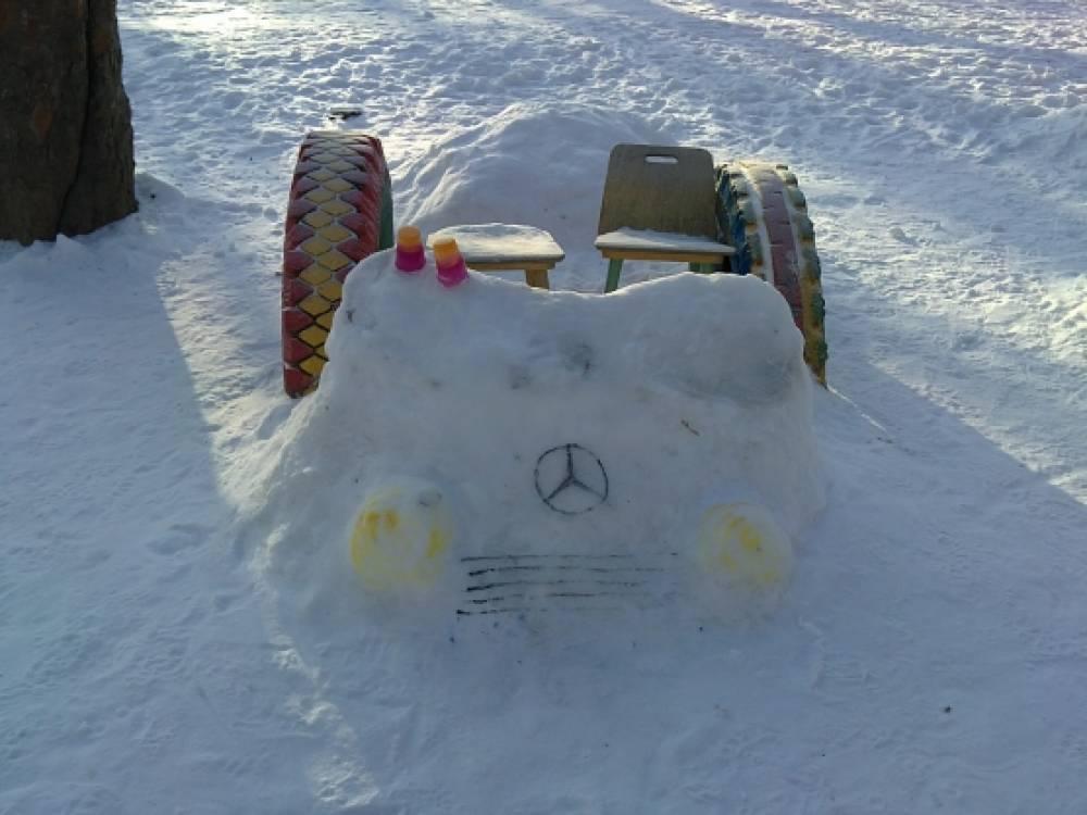 Как сделать туннель из снега своими руками