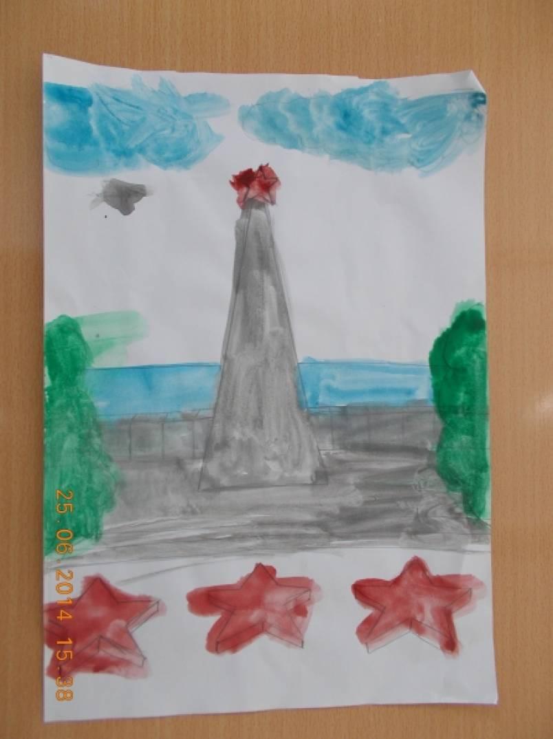 Фотоотчет детских работ к Дню независимости России