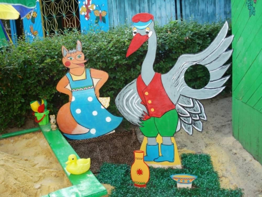 Оформления детских площадок в детском саду своими руками