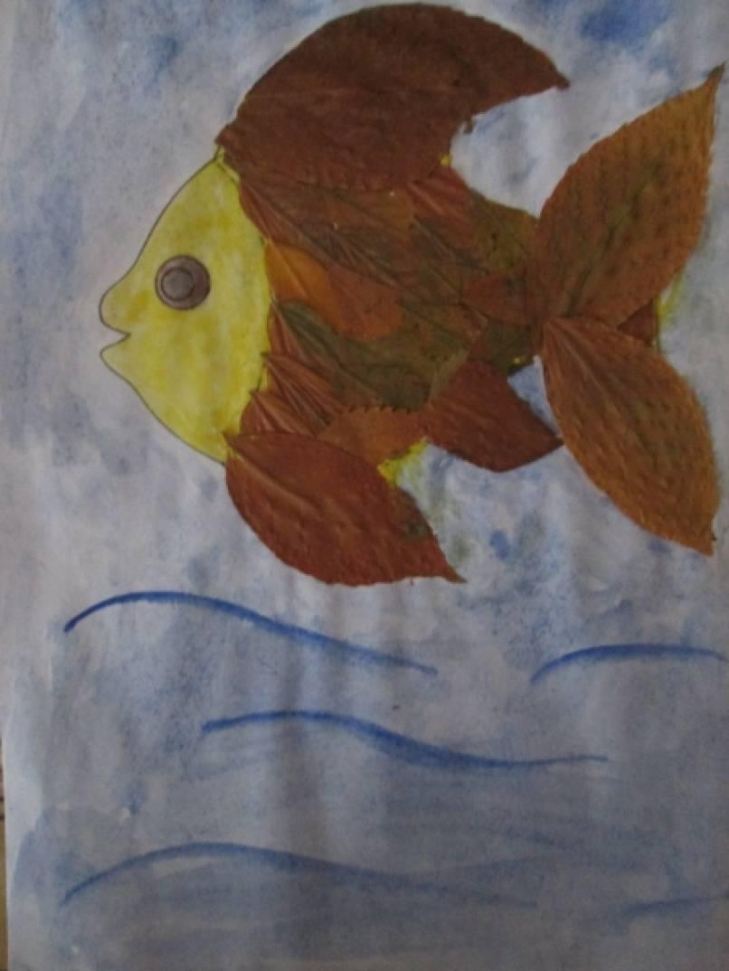 рисунок осенних листьев карандашом: