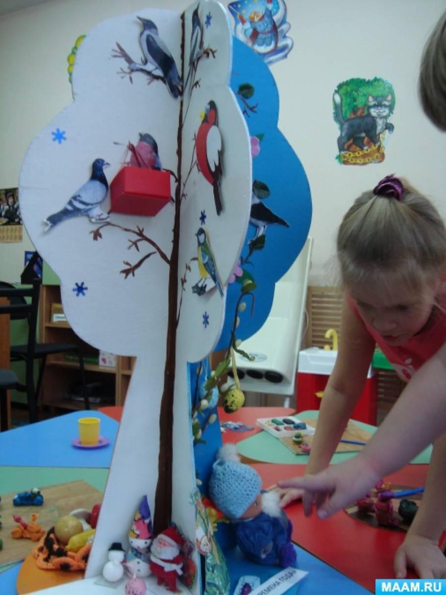 Дерево времен года в детском саду своими руками 34