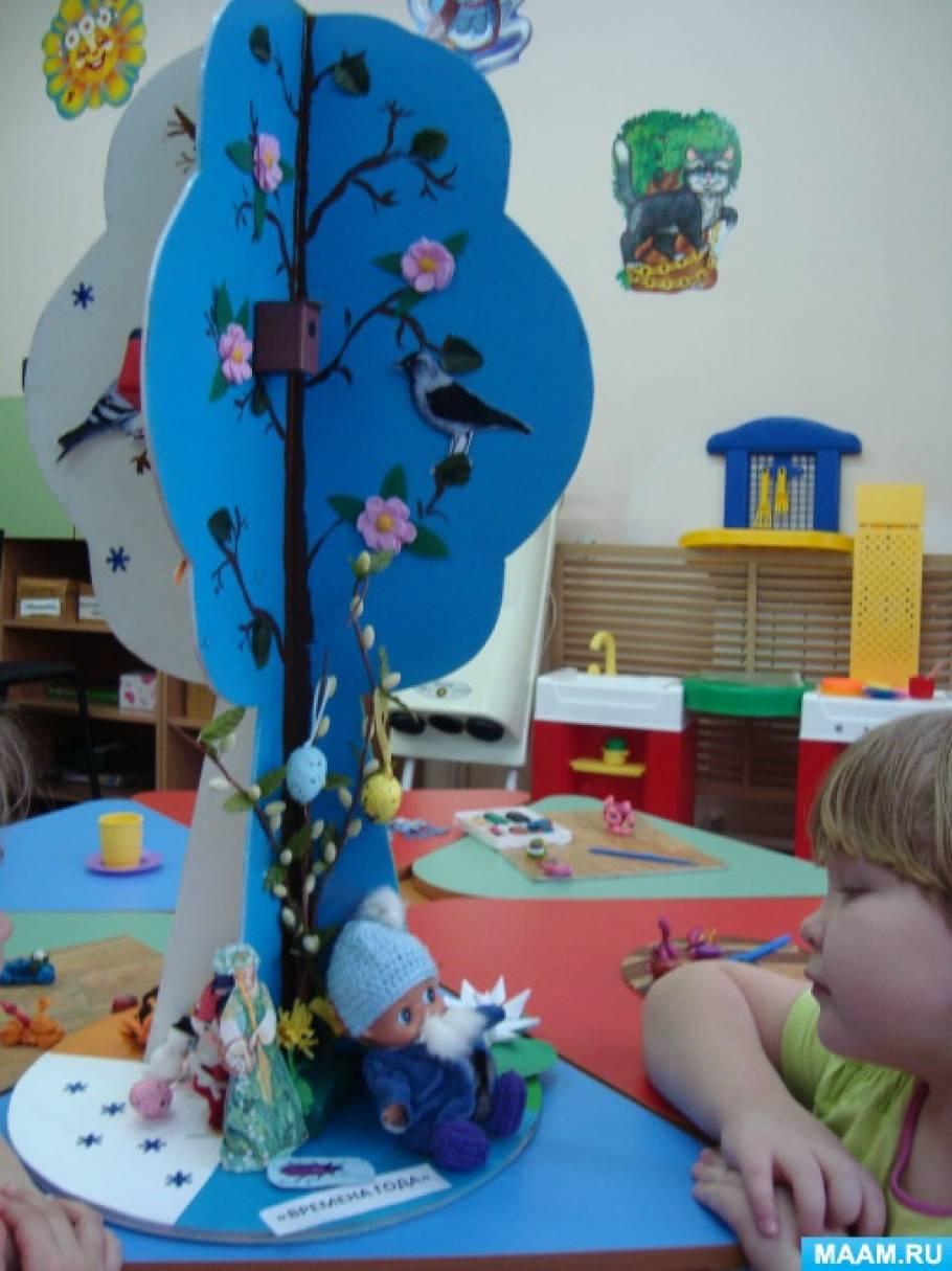 Дерево времен года в детском саду своими руками 628