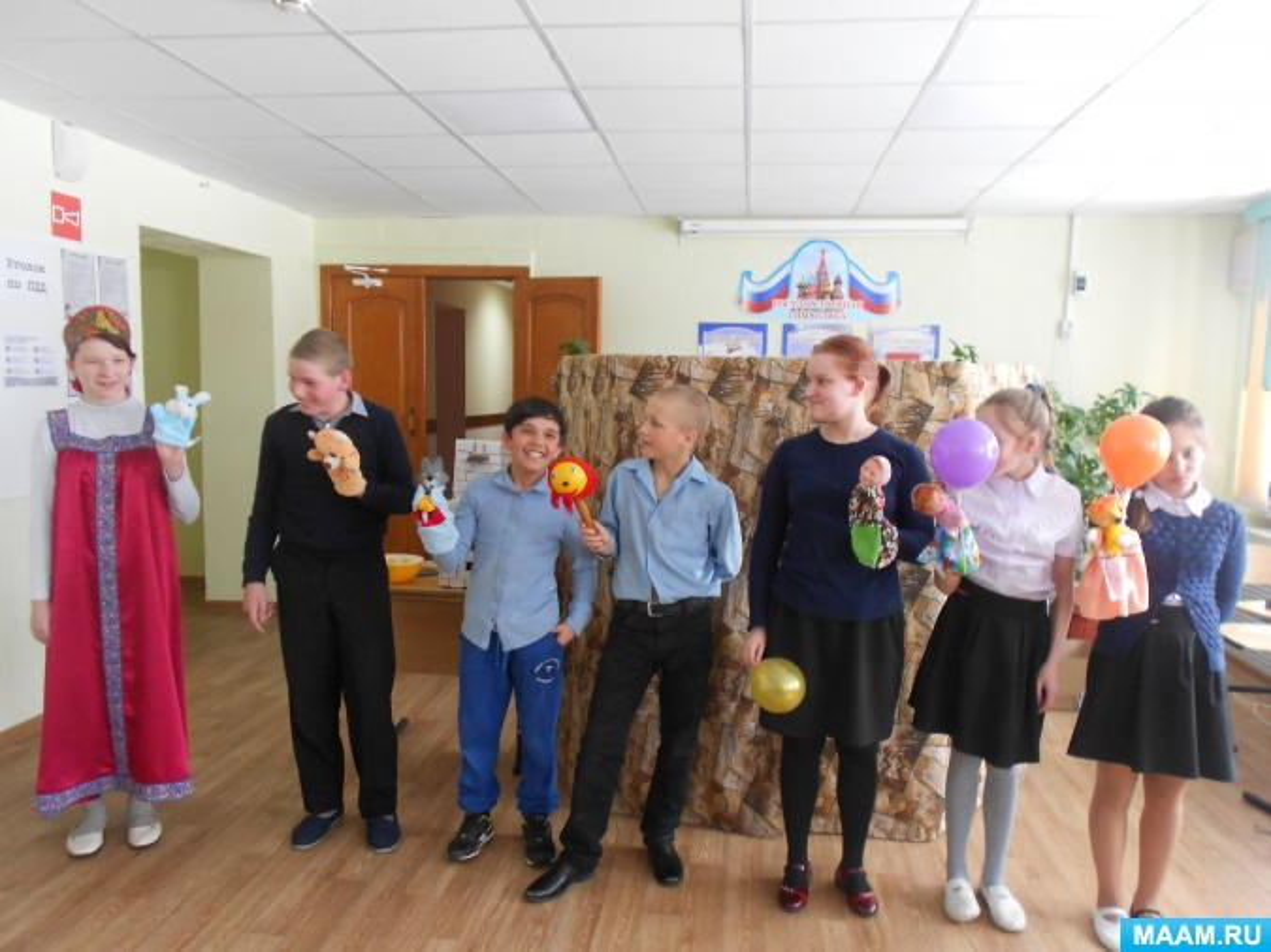 Фотоотчёт об общешкольном празднике «Международный день кукольника»