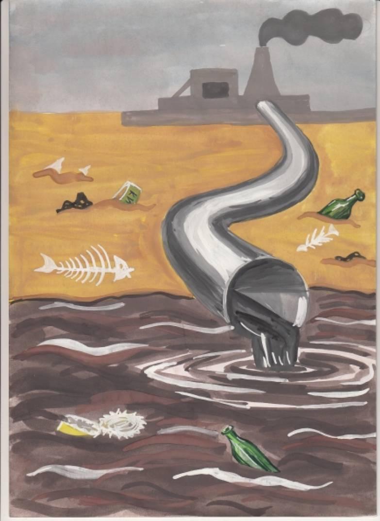 Картинки загрязнения воды рисунки