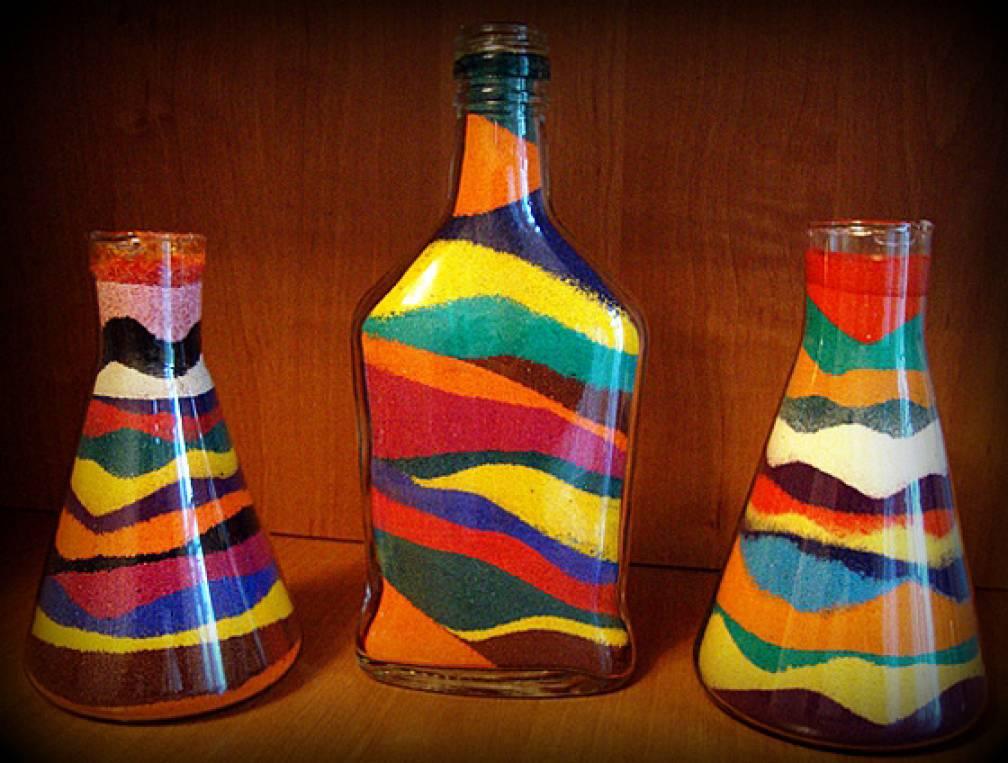 Поделки из цветной соли