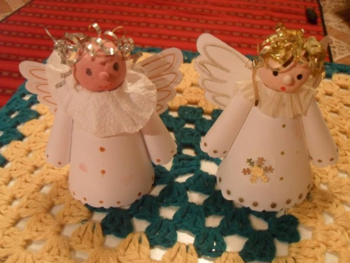 Ангелы своими руками из бросового материала 75