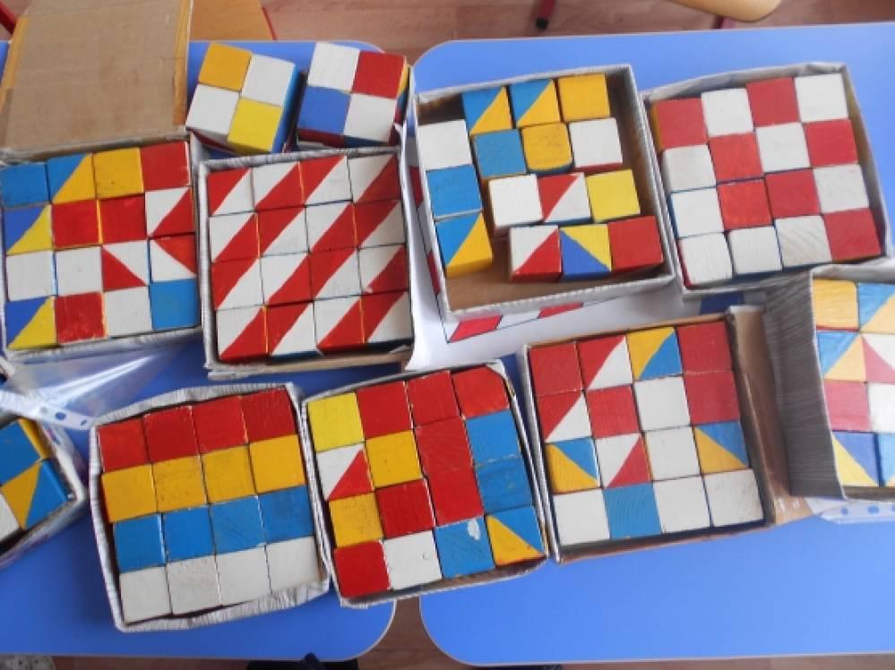 как знакомство с кубиками