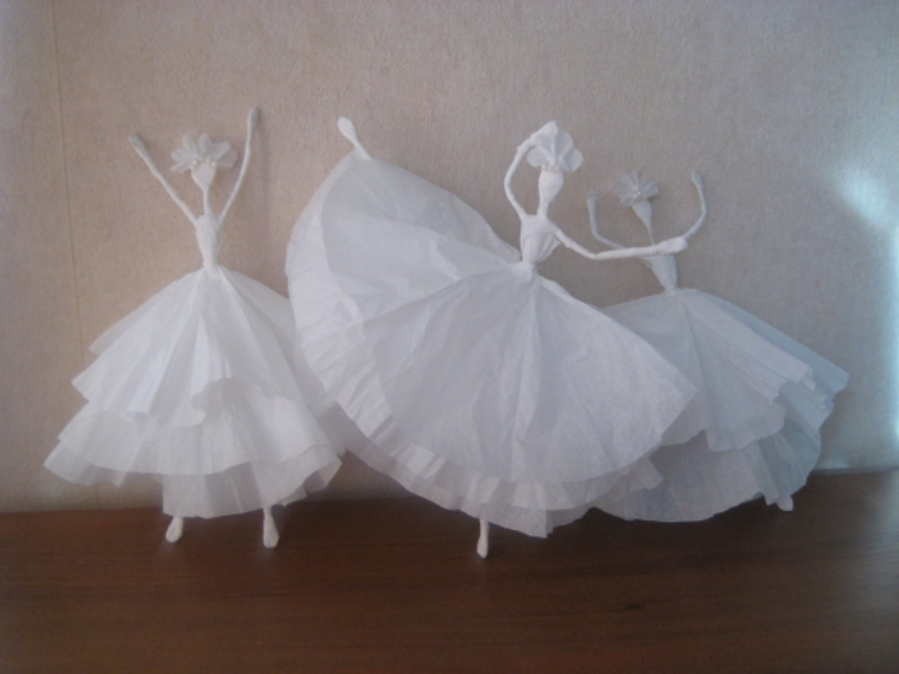 Как сделать платье балерины из салфеток видео - Шкаф и точка