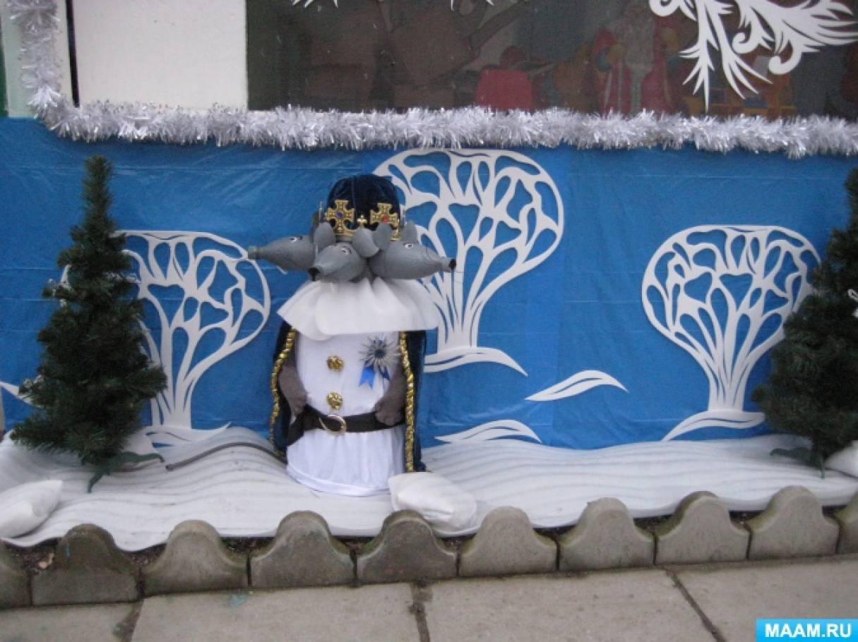 Зимнее оформление веранды в детском саду