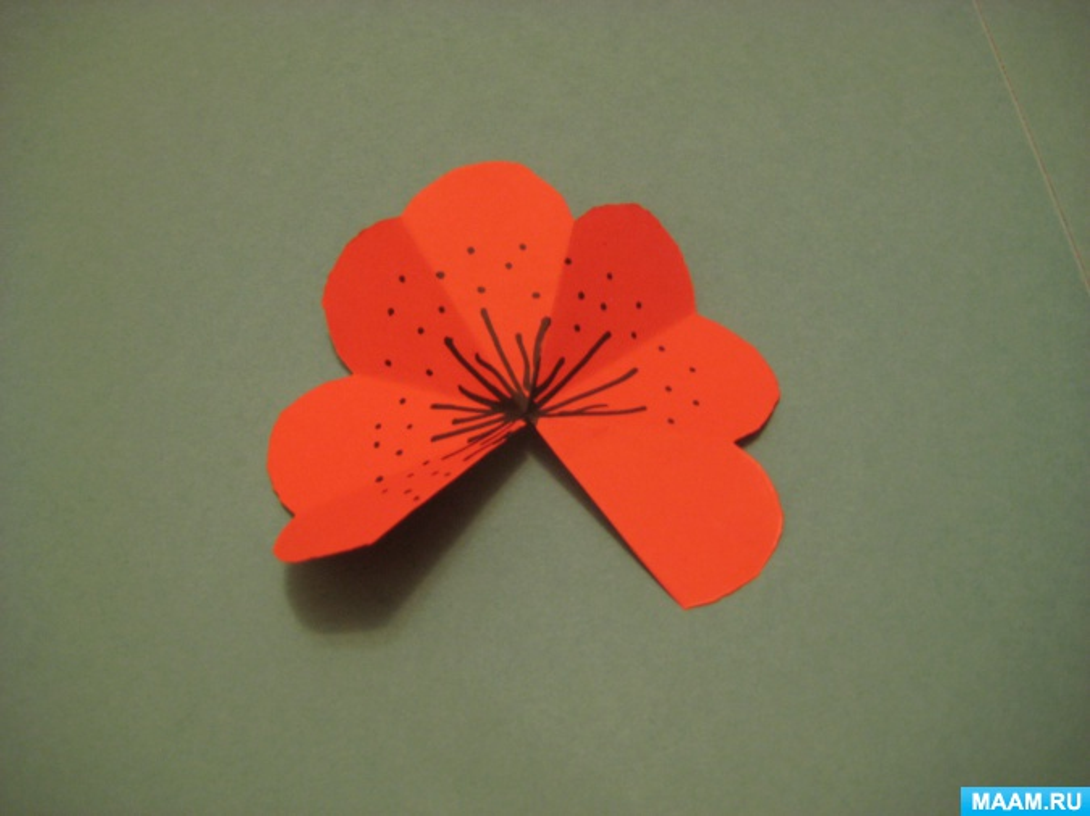 Открытка для мамы с цветами