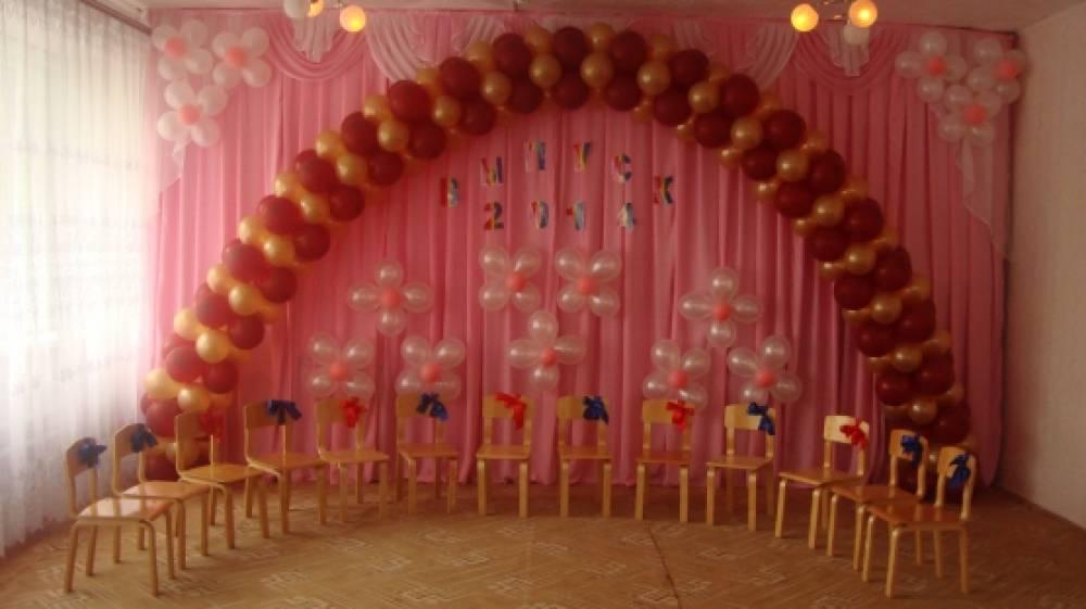 Украшение зала на выпускной вечер