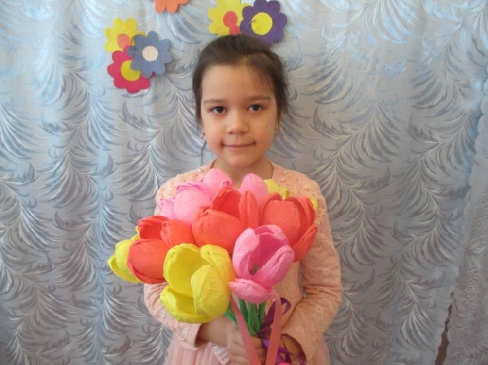 Детский мастер-класс «Тюльпаны для мамы»