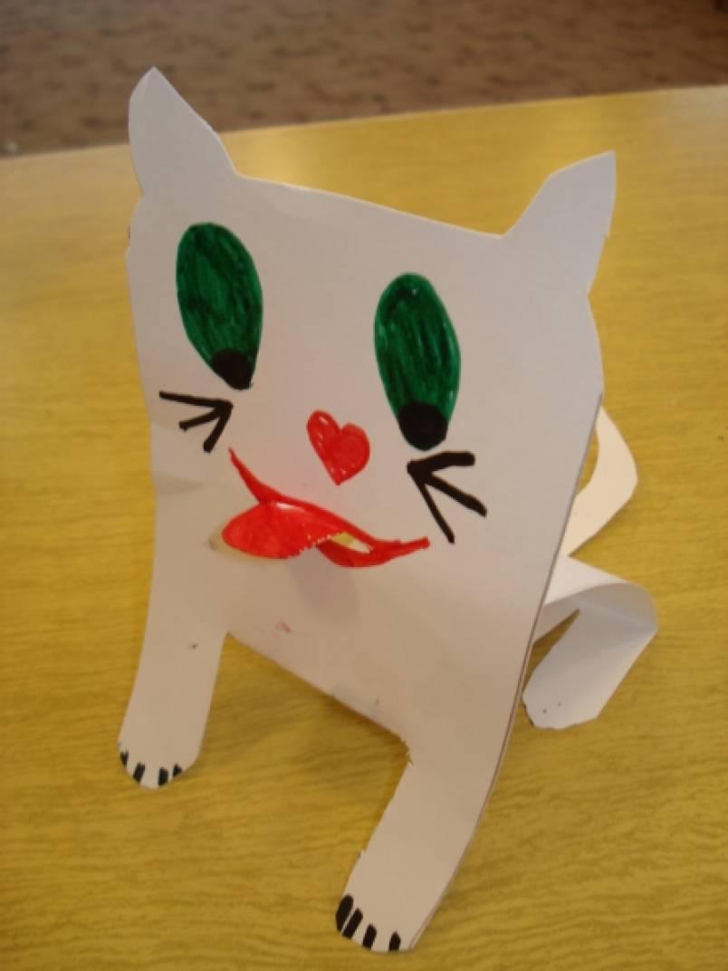 Бумажные кошки своими руками 90