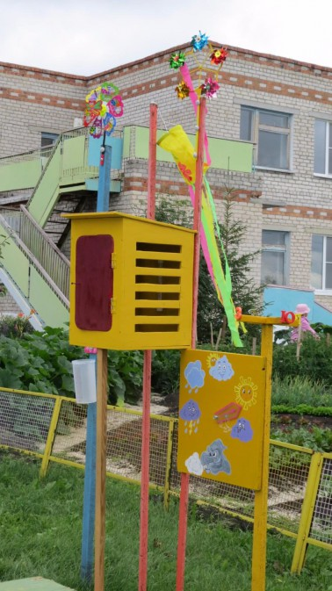 Метеостанция в детском саду своими руками на участке фото