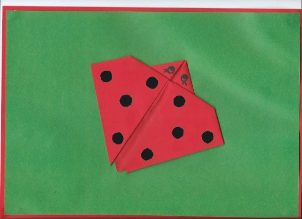 Конспект занятия по конструированию бабочка оригами