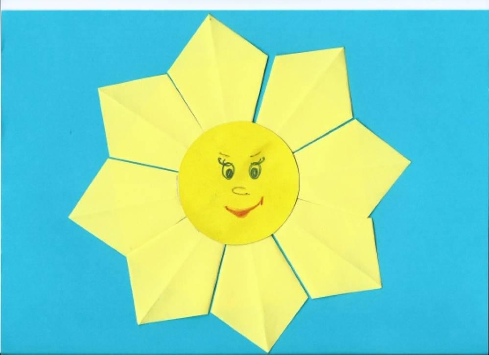 Солнышко оригами картинки