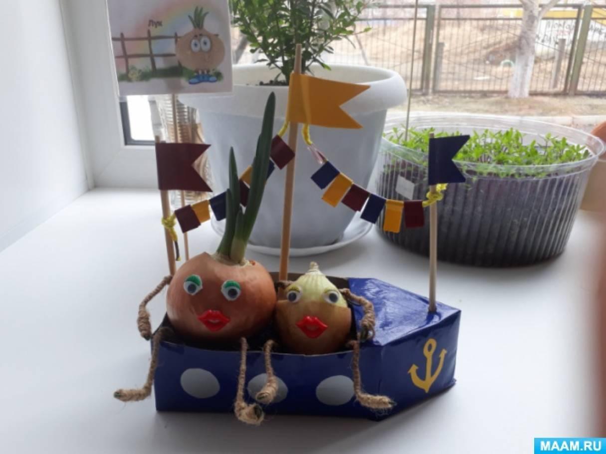 Фотоотчет об идеях оформления «Огород на окне в первой младшей группе»