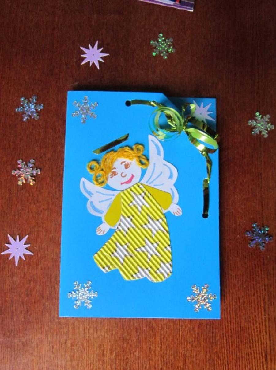 Рождественские открытки своими руками для детей нарисованная, юбилеем лет