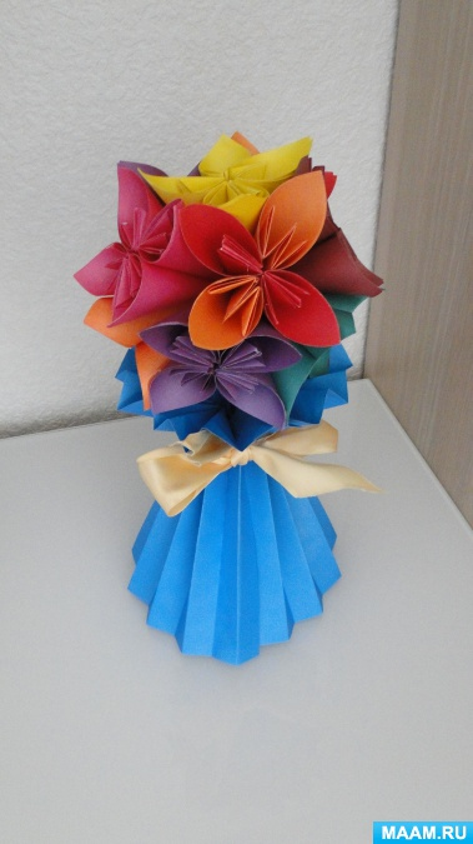 Мастер-класс «Ваза для цветов из бумаги»