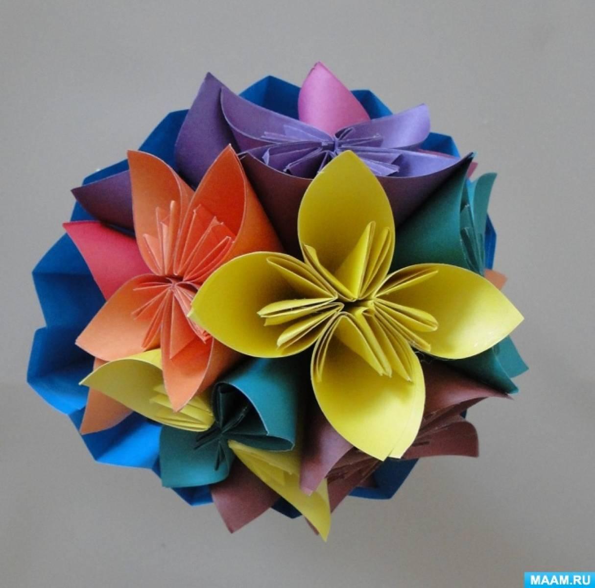 detsad-214145-1486904145 Мастер-класс «Букет цветов из бумаги». Воспитателям детских садов, школьным учителям и педагогам