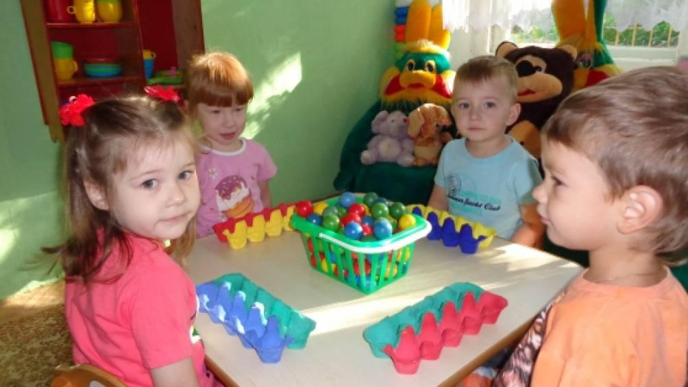 Игры с предметами во второй младшей группе