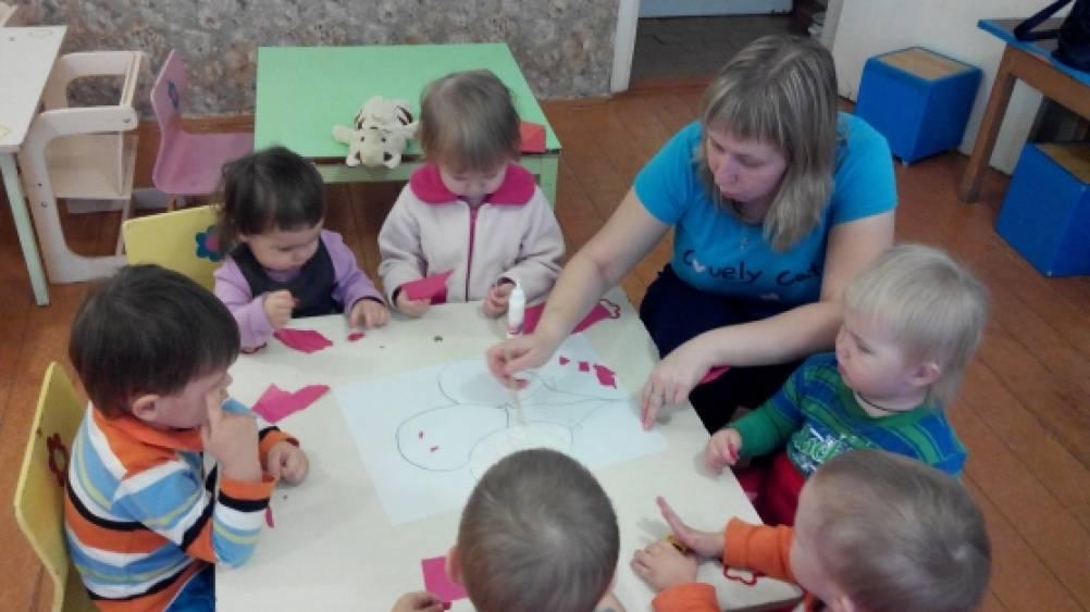 Отрывная аппликация с детьми раннего возраста Воспитателям  Отрывная аппликация с детьми раннего возраста